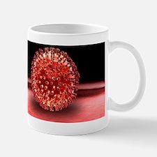 H1N1 flu virus particle, artwork Mug