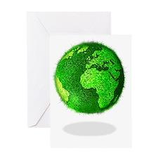 Green planet, conceptual artwork Greeting Card