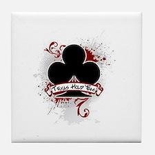 Texas Hold 'Em Club Tile Coaster
