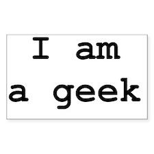 I am a geek - 2 Decal