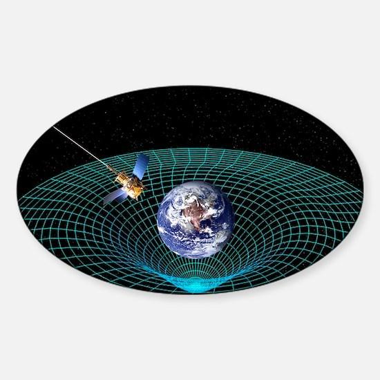 Gravity Probe B satellite, artwork Sticker (Oval)