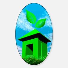 Green housing, conceptual image Decal