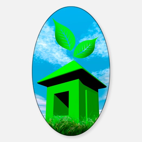 Green housing, conceptual image Sticker (Oval)