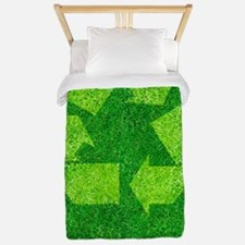 Green living, conceptual image Twin Duvet