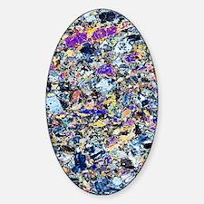 Granodiorite rock, light micrograph Decal