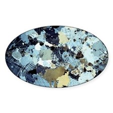 Granite rock, light micrograph Decal