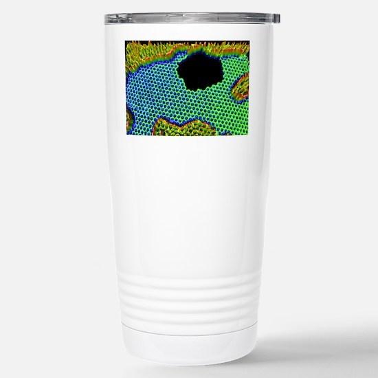 Graphene hole, 3D TEM Stainless Steel Travel Mug