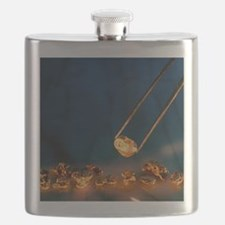 Gold nugget held in twizzers Flask