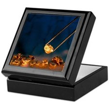 Gold nugget held in twizzers Keepsake Box