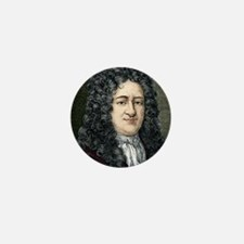 Gottfried Leibniz, German mathematicia Mini Button