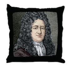 Gottfried Leibniz, German mathematici Throw Pillow