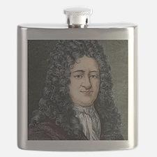 Gottfried Leibniz, German mathematician Flask