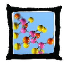 Glucose sugar molecule Throw Pillow