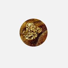 Gold nugget Mini Button