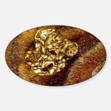 Gold nugget Sticker (Oval)