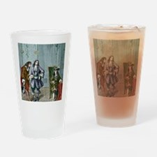 Giovanni Cassini and King Louis XIV Drinking Glass