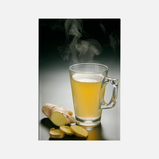 Ginger tea Rectangle Magnet
