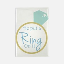 He put a ring on it Rectangle Magnet