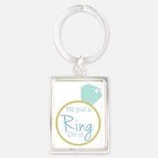 He put a ring on it Portrait Keychain