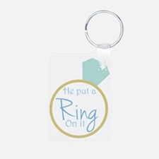 He put a ring on it Keychains