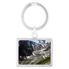 Glacier Noir and the Barre des  Landscape Keychain