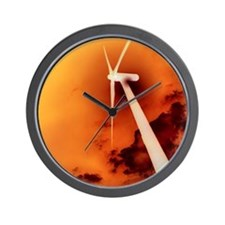 Global warming, conceptual artwork Wall Clock