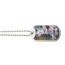 chickens come home to roost Dog Tags