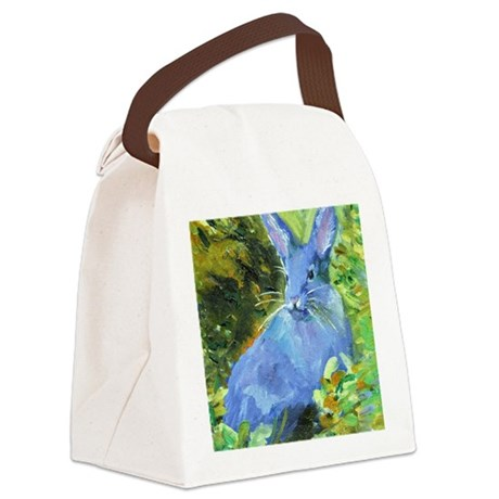 Blue Bunny Canvas Lunch Bag