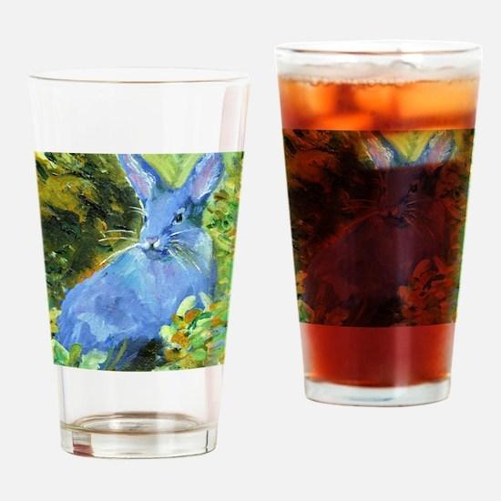 Blue Bunny Drinking Glass