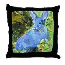 Blue Bunny Throw Pillow