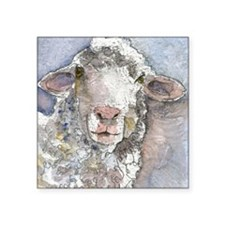 "Shorn This Way, Sheep Square Sticker 3"" x 3"""