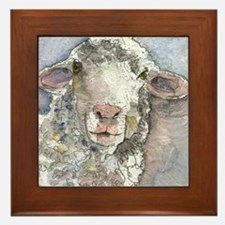 Shorn This Way, Sheep Framed Tile