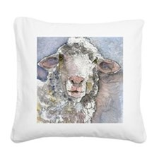 Shorn This Way, Sheep Square Canvas Pillow