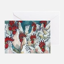 Chicken Hearted Greeting Card