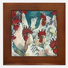 Chicken Hearted Framed Tile
