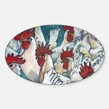 Chicken Hearted Sticker (Oval)