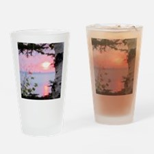 Lake Superior Sunset Drinking Glass