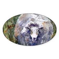 Peaceful Pasture Sheep Decal