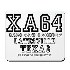 TEXAS - AIRPORT CODES - XA64 - NASH RANC Mousepad