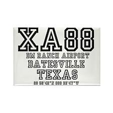 TEXAS - AIRPORT CODES - XA88 - DM Rectangle Magnet