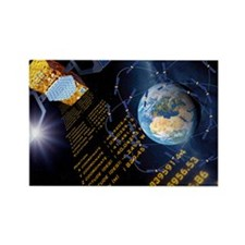 Galileo navigation satellite, art Rectangle Magnet