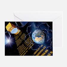 Galileo navigation satellite, artwor Greeting Card