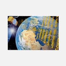 Galileo navigation satellite, art Rectangle Magnet