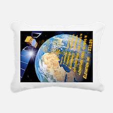 Galileo navigation satel Rectangular Canvas Pillow