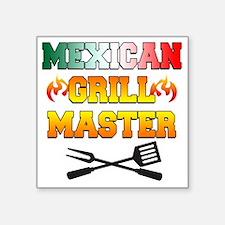 """Mexican Grill Master Apron Square Sticker 3"""" x 3"""""""
