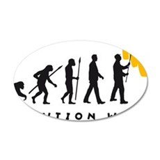 evolution painter man 35x21 Oval Wall Decal
