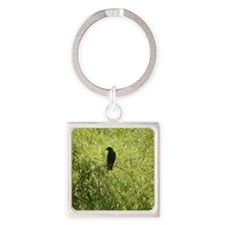 Crow 1 Square Keychain