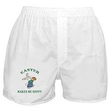 Easter Makes Me Hoppy Boxer Shorts