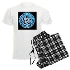 Fullerene molecule, artwork Pajamas