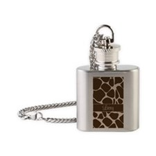 Giraffe iPhone Case - Lacey Flask Necklace